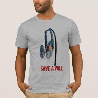 Camiseta Ahorre un polo, monte a un saltador