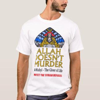 Camiseta Alá no asesina - proteja a los refugiados sirios
