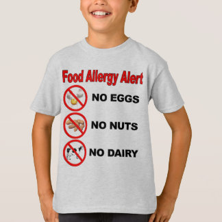 Camiseta Alarma de la alergia alimentaria