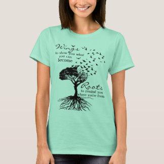 Camiseta alas 72Marketing y raíces en Seafoam