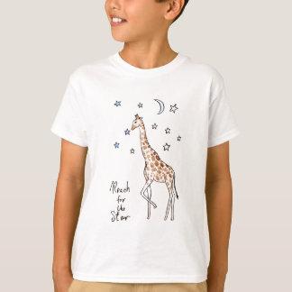 Camiseta alcance de la jirafa para la estrella