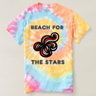 """Camiseta """"Alcance para el teñido anudado espiral de las"""