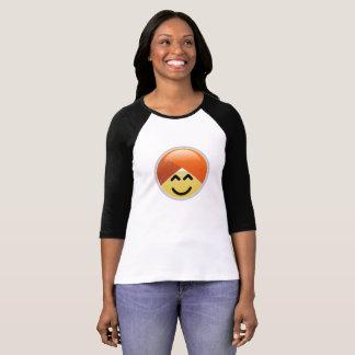 Camiseta alegre de Emoji del turbante de Guru de