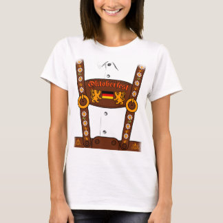 Camiseta alemana de los Lederhosen de Oktoberfest