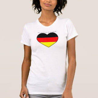 Camiseta Alemania corazón fútbol Shirt