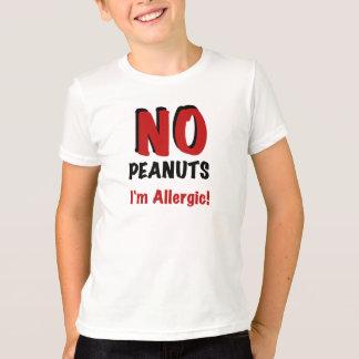Camiseta Alergia del cacahuete