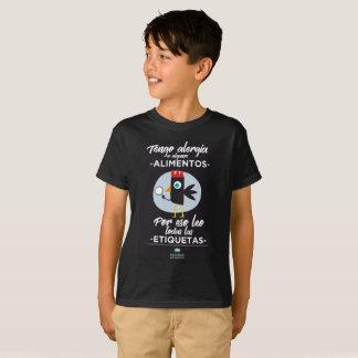 camiseta alergia .leo etiquetas