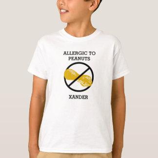 Camiseta Alérgico a los cacahuetes personalizados no