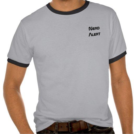 Camiseta alerta del empollón - individuos