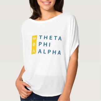 Camiseta Alfa de la phi de la theta apilada