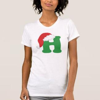 Camiseta Alfabeto de la letra H del navidad