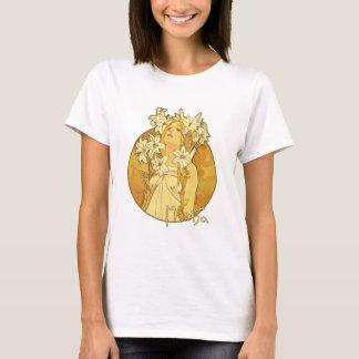 Camiseta Alfonso Mucha - las flores