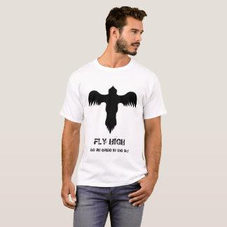 Camiseta Alta cita de Eagle del logotipo de la mosca blanca