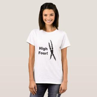 Camiseta Alta huella de cuatro loros (alto cinco)