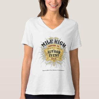 Camiseta Altas mujeres del cuello en v del acontecimiento