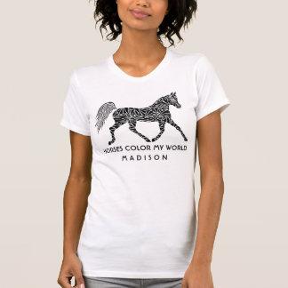 Camiseta Amante conocido opcional del caballo del caballo