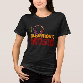 Camiseta amante de la música del electro del auricular