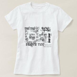 Camiseta Amante del perro - cómo decir te amo