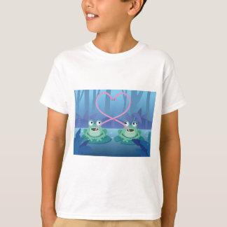 Camiseta amantes de la rana del día de San Valentín