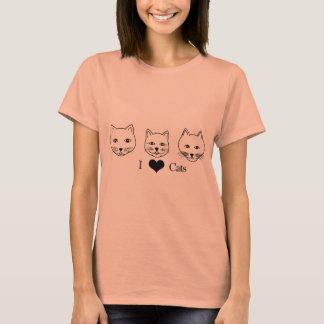 Camiseta Amantes de los gatos