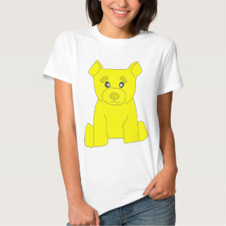 Camiseta amarilla de las mujeres del oso