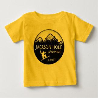 Camiseta amarilla del arte de la snowboard del