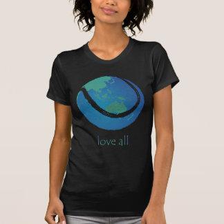 Camiseta AME el diseño del globo del mundo del tenis de