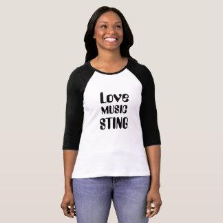 Camiseta Ame la música Sting y toda la música de los años