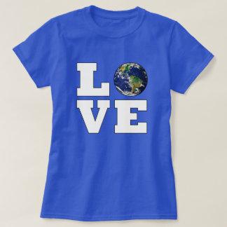 Camiseta Ame la protección del medio ambiente de la tierra