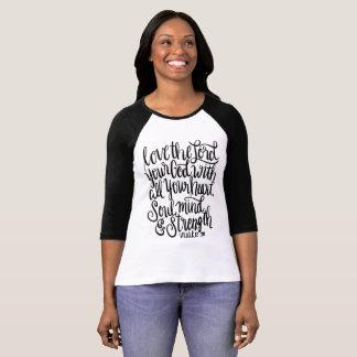 Camiseta Ame las letras de señor Your God Scripture Hand