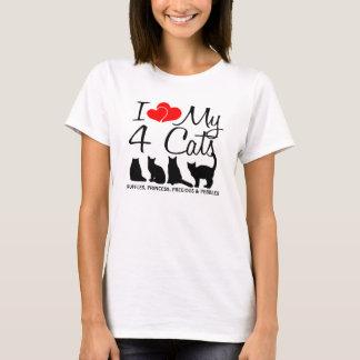 Camiseta Ame mis CUATRO gatos