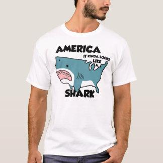 Camiseta América es un tiburón (o vea el nuevo apenado)