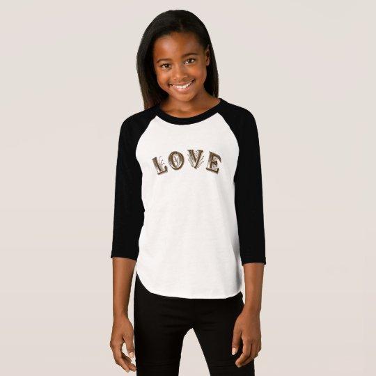 Camiseta American Apparel de los chicas 3/4  de la