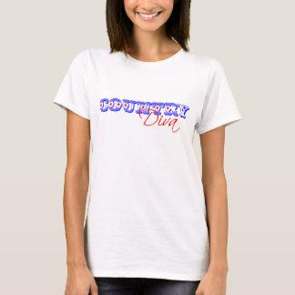Camiseta americana de la diva del país