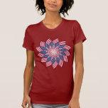 Camiseta americana del molinillo de viento (oscura