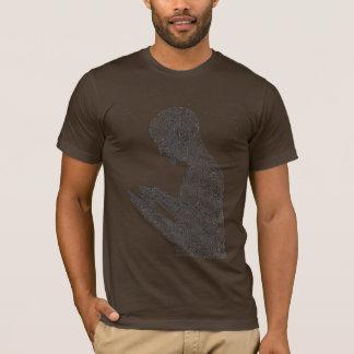 Camiseta americana del rezo (marrón)