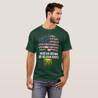 Camiseta americano crecido con las raíces belgas