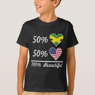 Camiseta Americano jamaicano del 50% el 50% el 100% hermoso