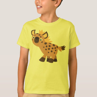 Camiseta amistosa linda de los niños del Hyena del