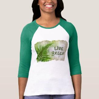 Camiseta amistosa verde viva del Día de la Tierra