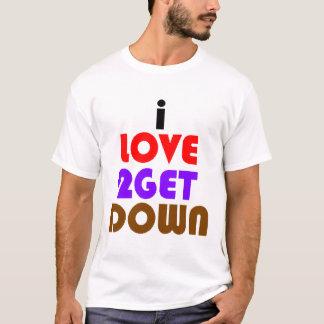 Camiseta amo 2 consigo abajo y sucio
