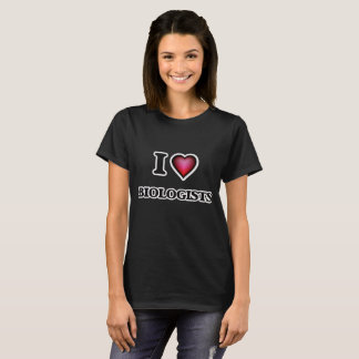 Camiseta Amo a biólogos