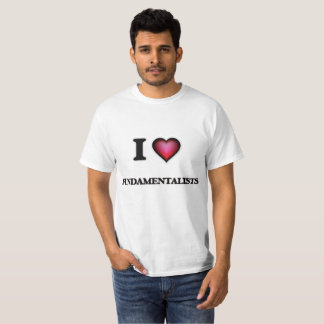 Camiseta Amo a fundamentalistas