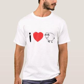 Camiseta Amo a hombres de la oveja