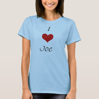 Camiseta Amo a Joe