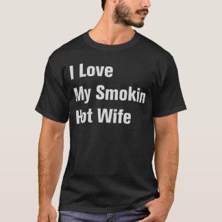 Camiseta Amo a mi esposa caliente de Smokin