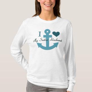 Camiseta Amo a mi marido del marinero