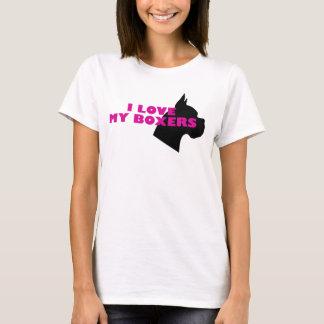 Camiseta Amo a mis boxeadores