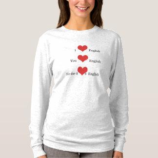 Camiseta Amo al estudiante del profesor del ESL de la