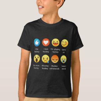 Camiseta Amo al Social del Emoticon del hockey (emoji) (la
